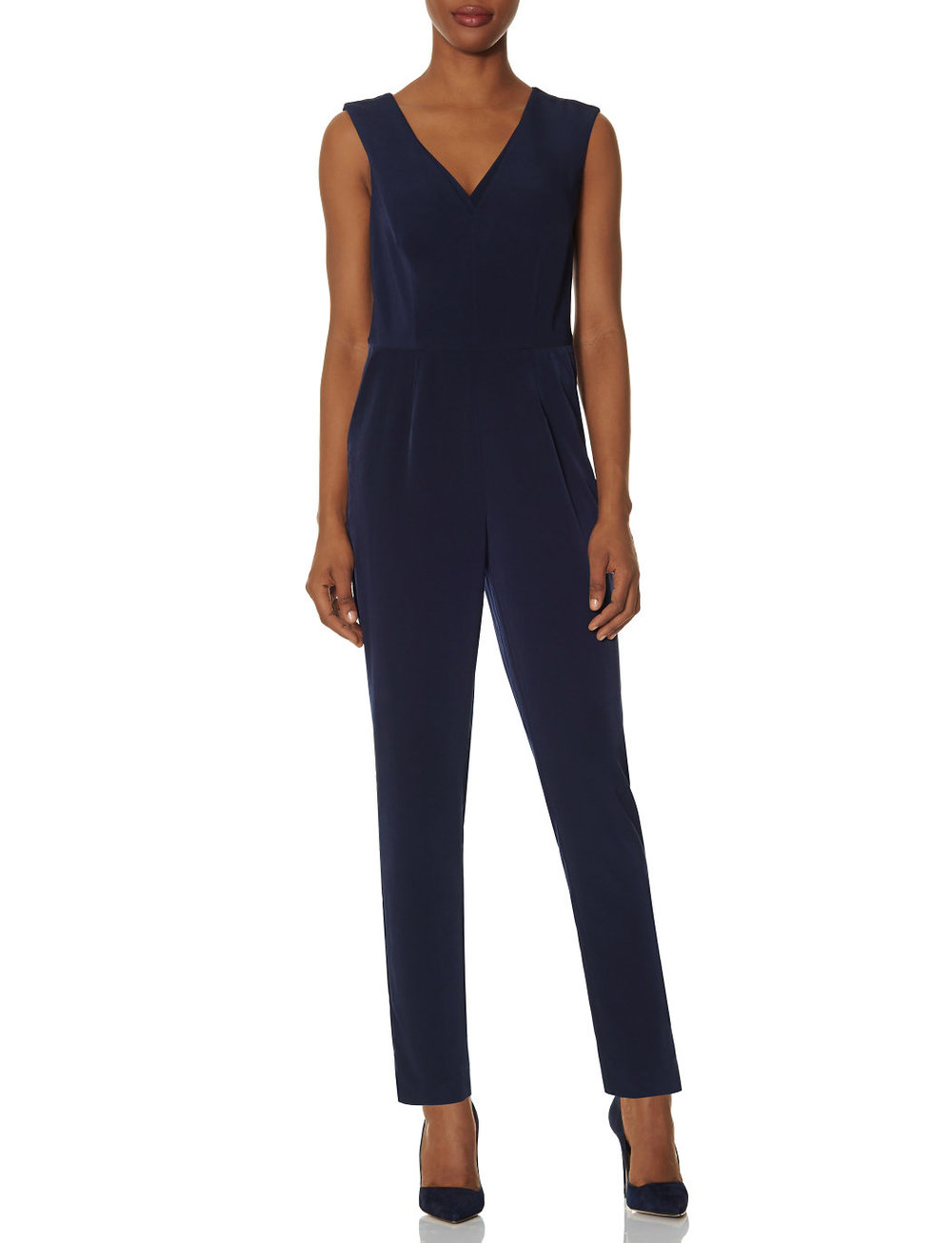 V Neck Jumpsuit. (navy blue!) The Limited. Was: $118 Now: $82. I'm wearing this right now!