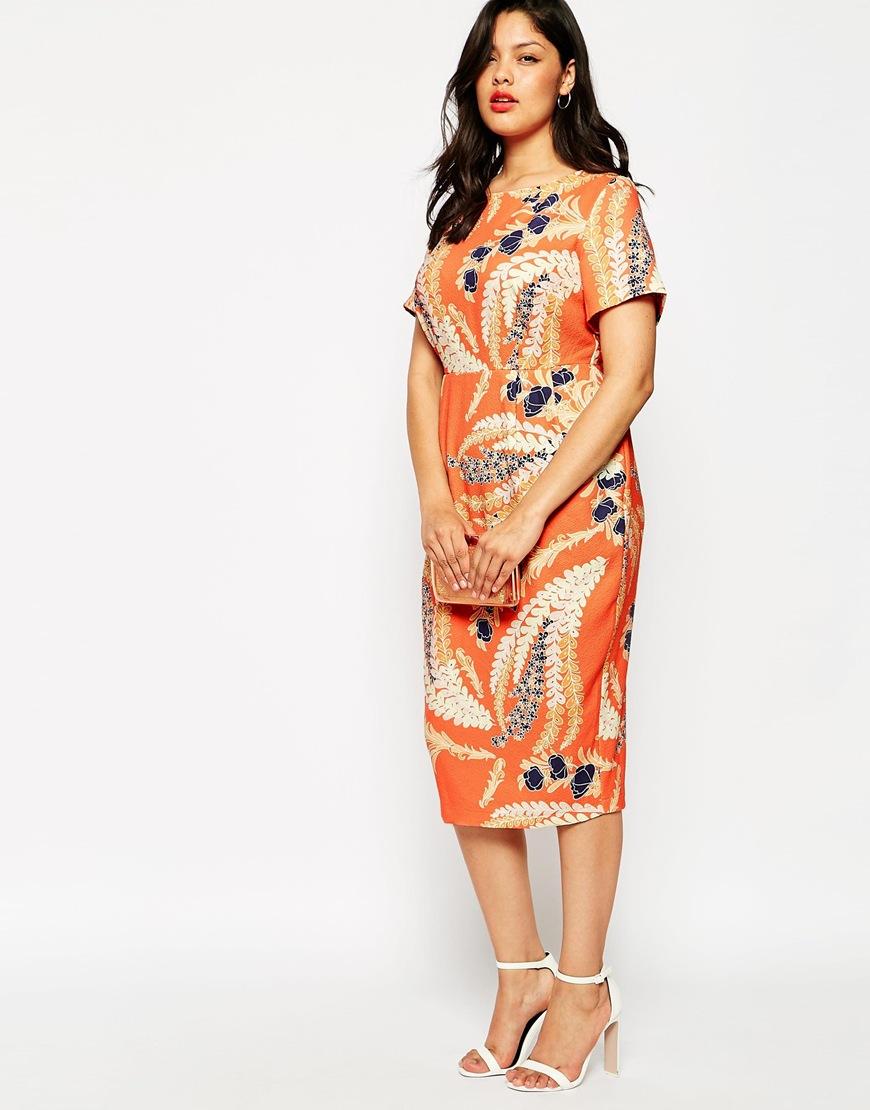 Floral Textured Wiggle Dress. ASOS. $86.99