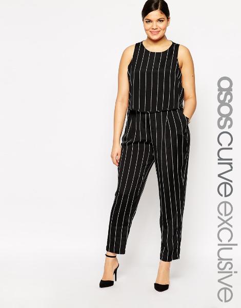 Layer Jumpsuit in Stripe. ASOS Curve. $69.00