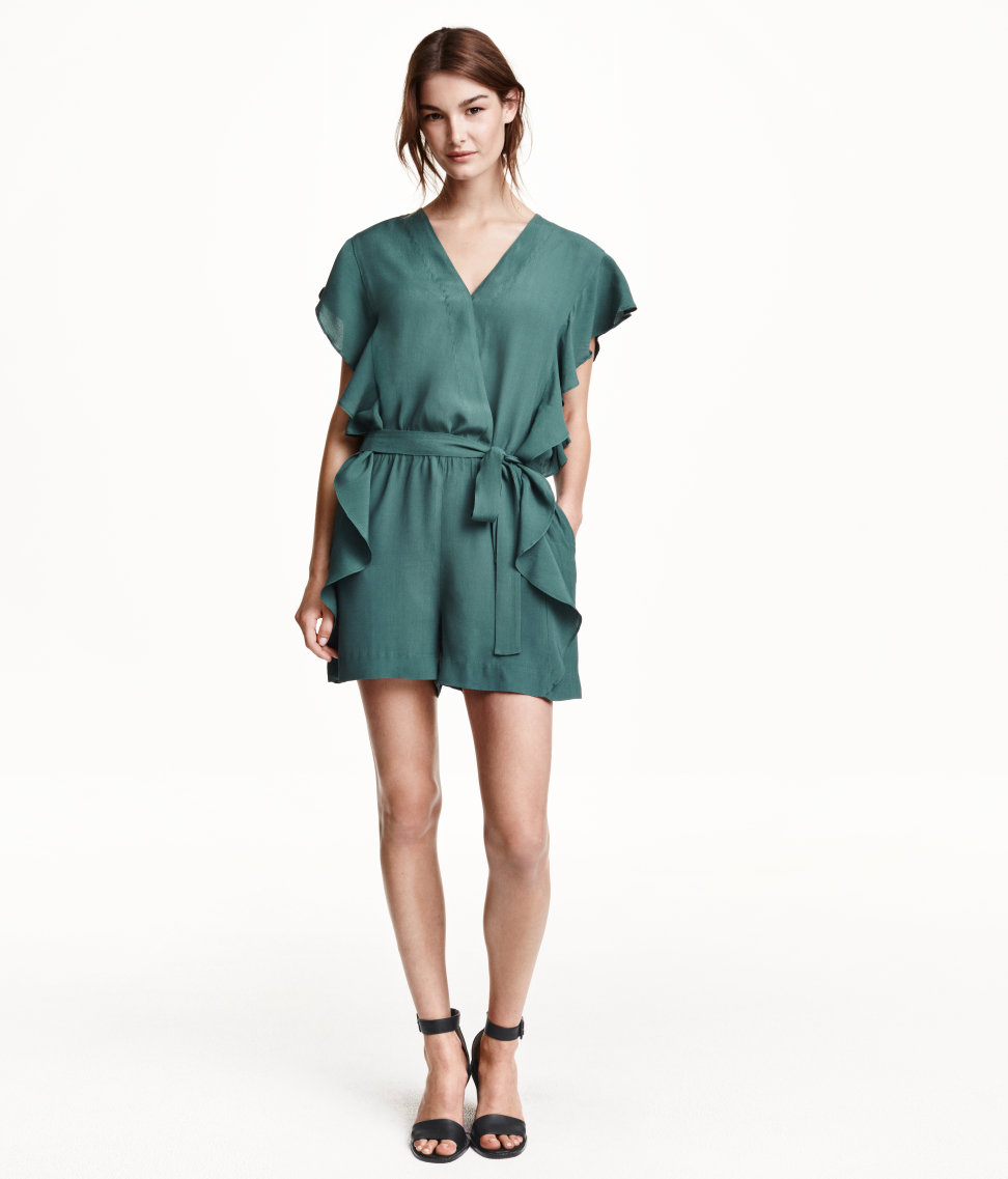 Jumpsuit with ruffled sleeves. H&M. $35.