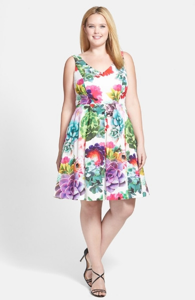 City Chic 'Succulent Sweetie' Fit and Flare Dress. Nordstrom. $139.95