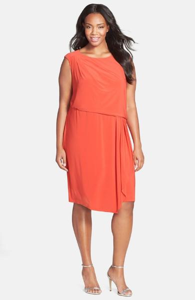 Adriann Papell Asymmetrical Jersey Blouson Dress. Nordstrom. $120.00