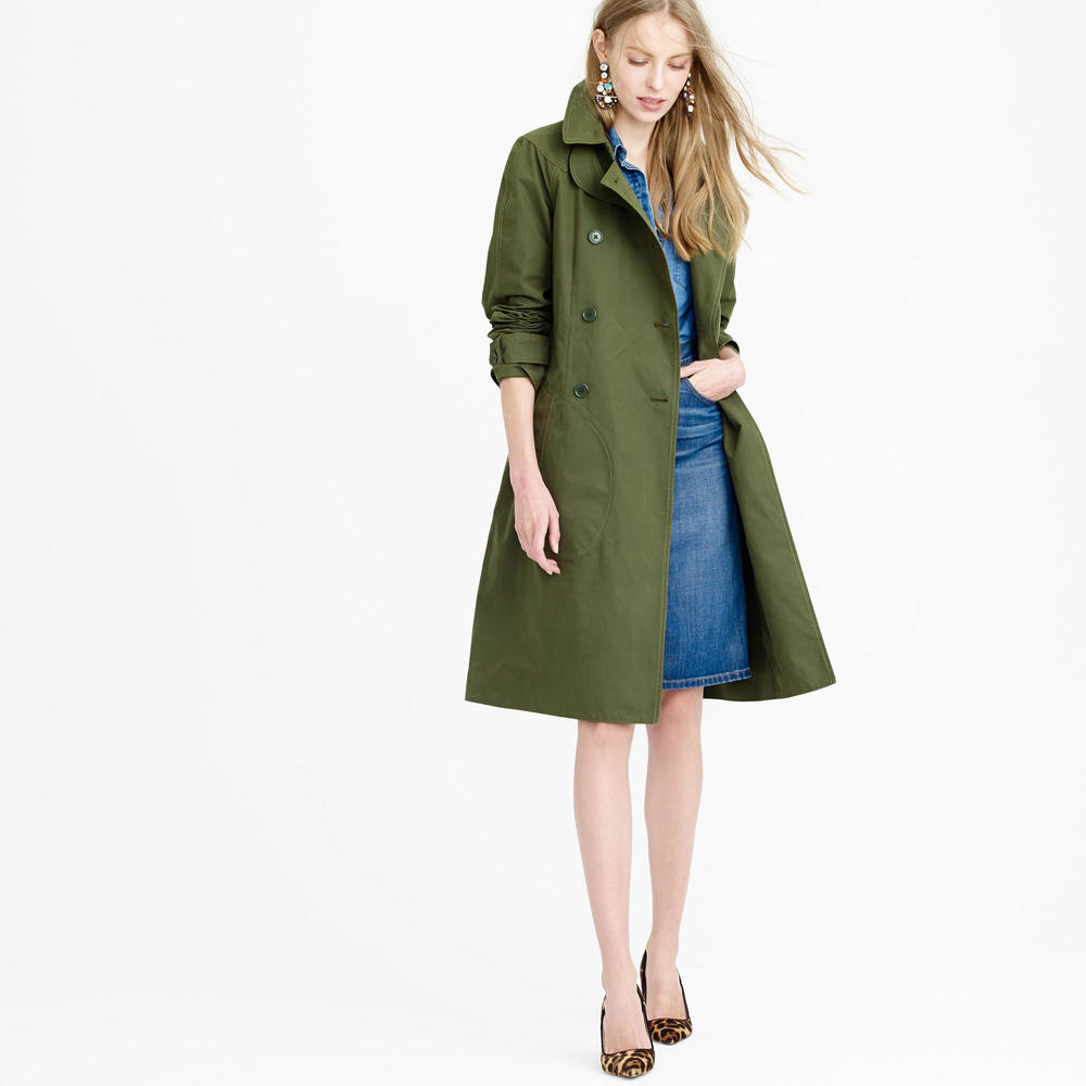 Pre Order Military Trench. J Crew. $325.