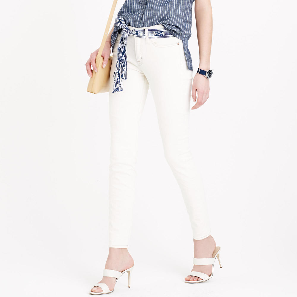 Stretch Toothpick Jean in Ecru. J.Crew. $115. Also available in tall.