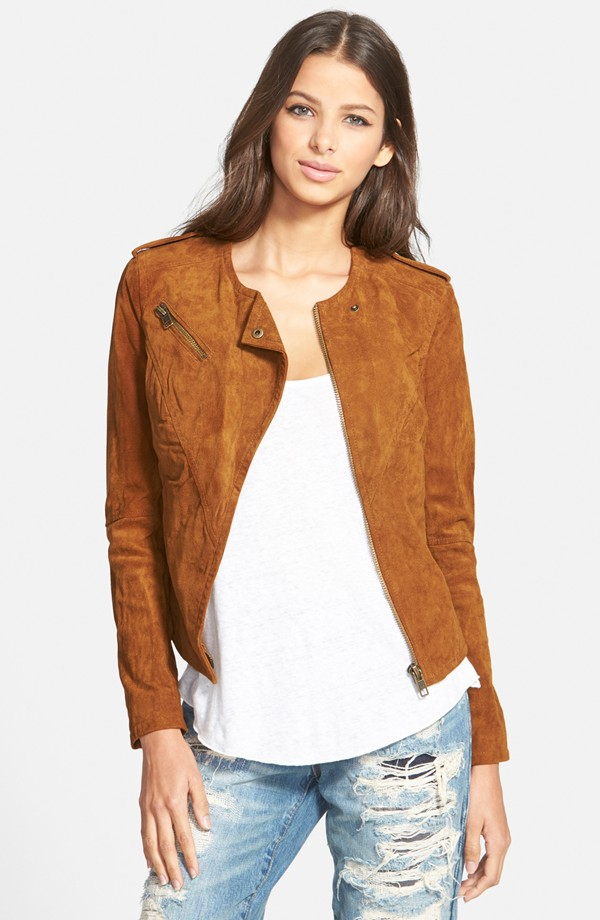 BLANKNYC Suede Leather Jacket. Nordstrom. $188.