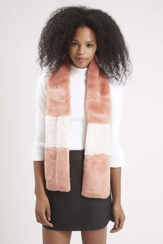 Color Block Faux Fur Stole. Topshop. $60.