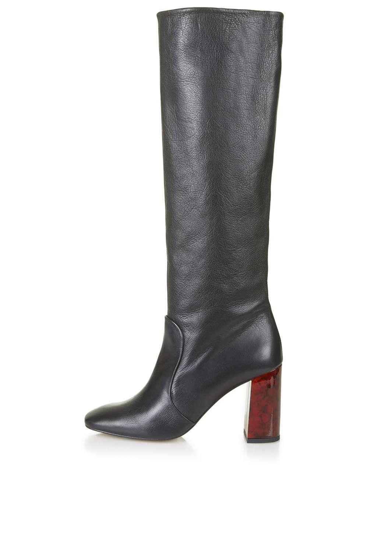 CARMEN Tortoiseshell Mid Calf Boots. Tiptop. $240.