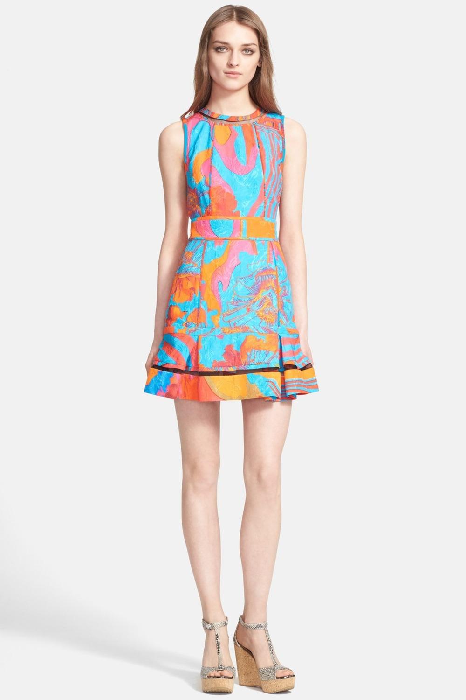 Roberto Cavalli Cutout Back Print Brocade Dress. Nordstrom Rack. Was: $2,745. Now: $879.