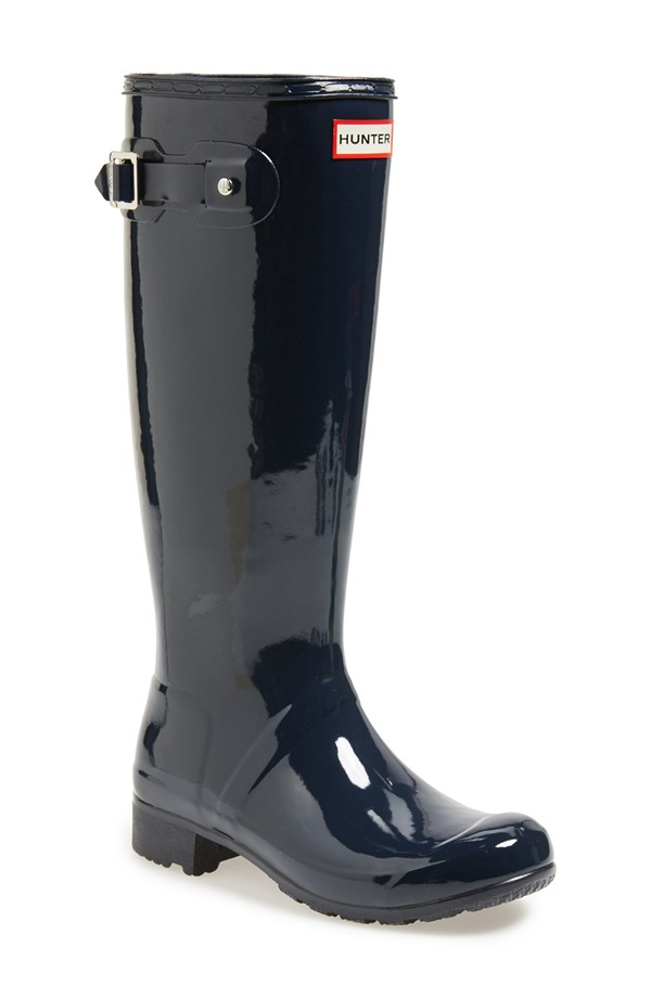 Hunter Original Tour gloss Packable Rain Boot. Available in multiple colors. Nordstrom. $150