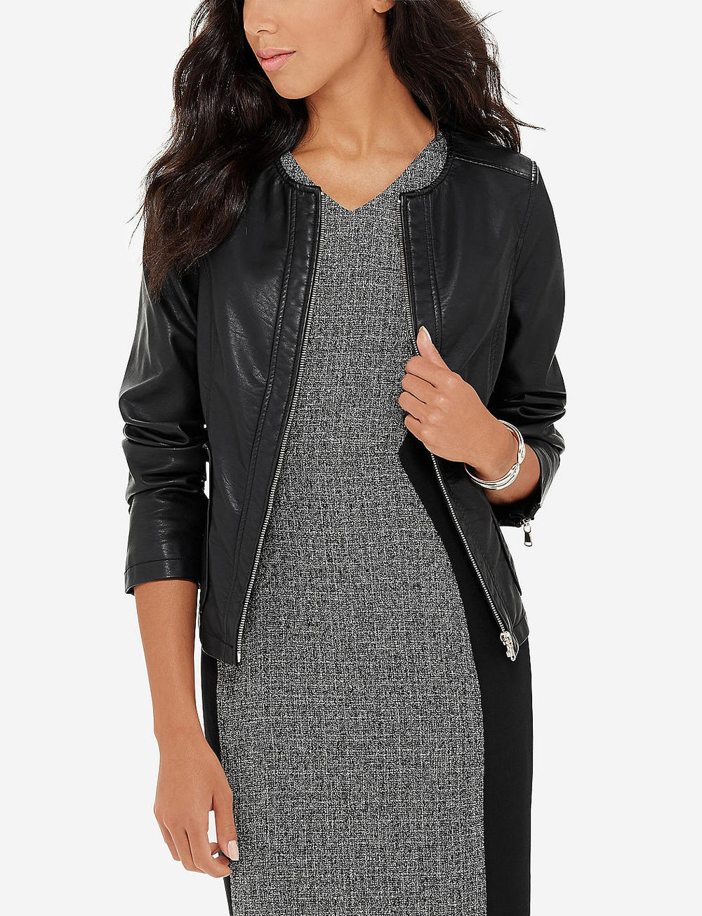 Faux Leather Jacket. the Limited. Was: $139 Now: $69.