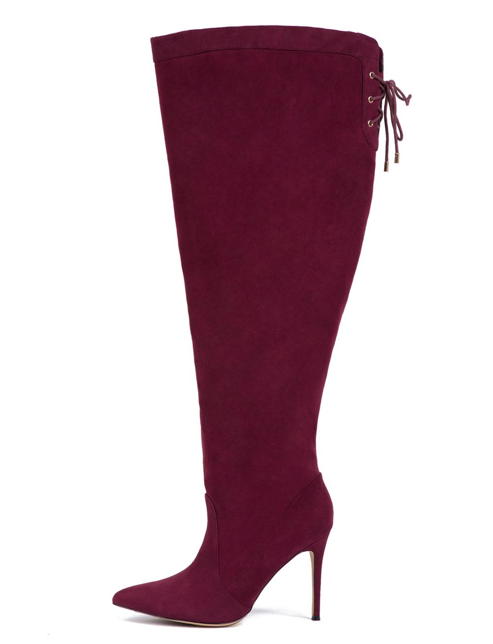 Luella Over-The-Knee-Boot. Eloquii.com. Also comes in Black. $149.90