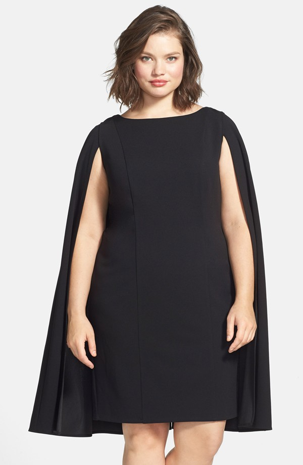 Adrianna Papell Cape Sheath Dress. Nordstrom. Also comes in Navy. $180.00.