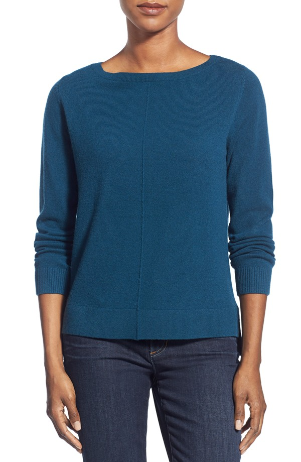 Nordstrom Boatneck Cashmere Sweater. Available in multiple colors. $198.