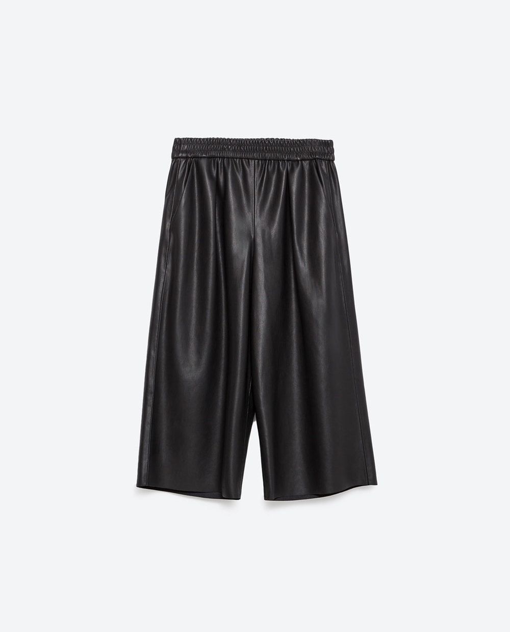 Faux Leather Culottes. Available in two colors. Zara. $39.