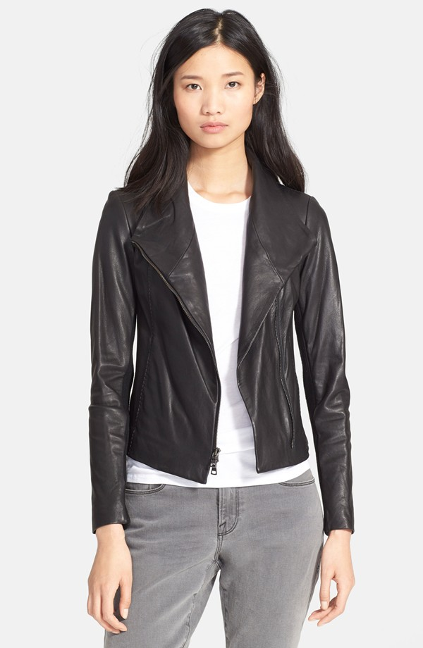 Vince Leather Scuba Jacket. Nordstrom. Was: $995 Now: $597.