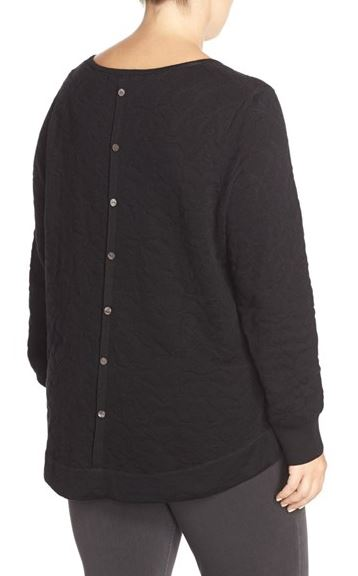 Foxcroft Button Back Jaquard Sweater. Nordstrom. $85.00