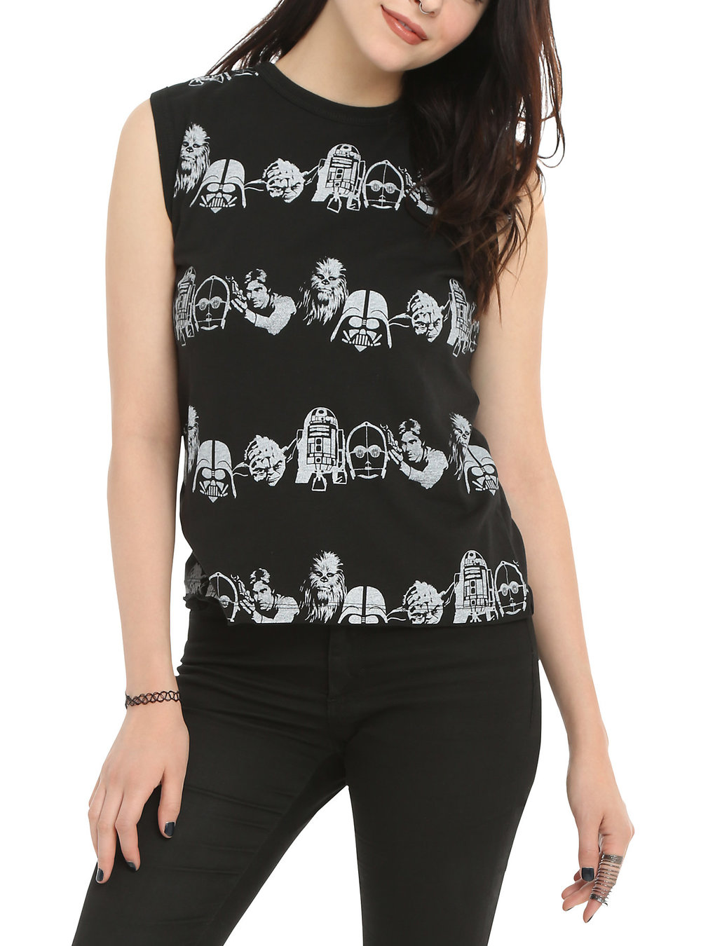 Star Wars Character Girls Stencil Top. Hot Topic. $24. Additional 30% off.