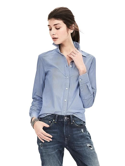 Dillon Fit Micro Stripe Shirt. Available in multiple colors and prints. Banana Republic. $68. Additional 40% off with code: BRNICK