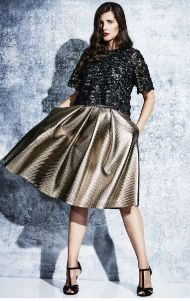 Prima Champagne Quilted Skirt. Elvi. $99.91