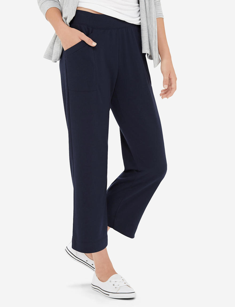 Cropped Lounge Pants. Available in navy, grey, taupe. The Limited. Was: $44 Now: $31.