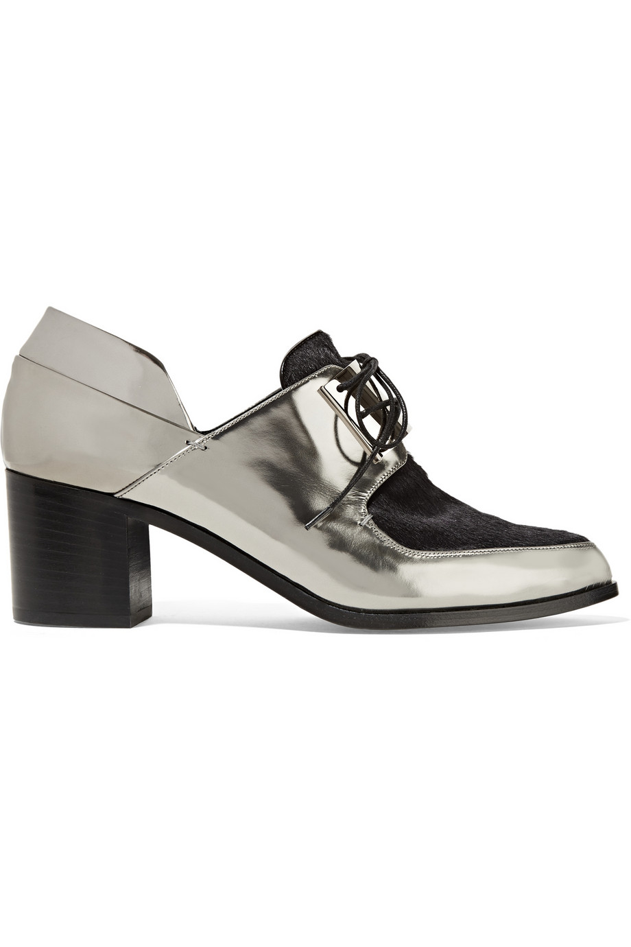 Jason Wu Paneled Metallic Leather & Pony Brogues. The Outnet. Was: $925 Now: $370.