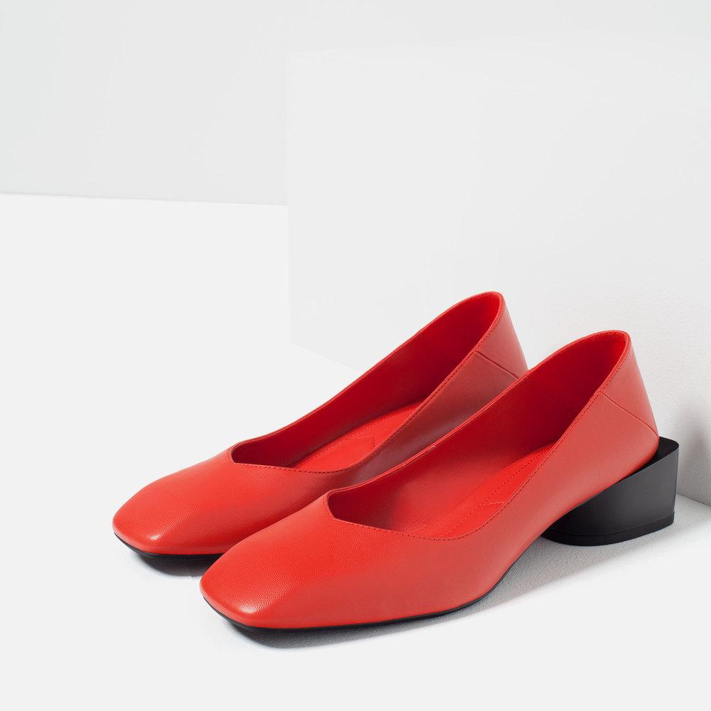 Block Heel Ballerinas. Zara. $69.
