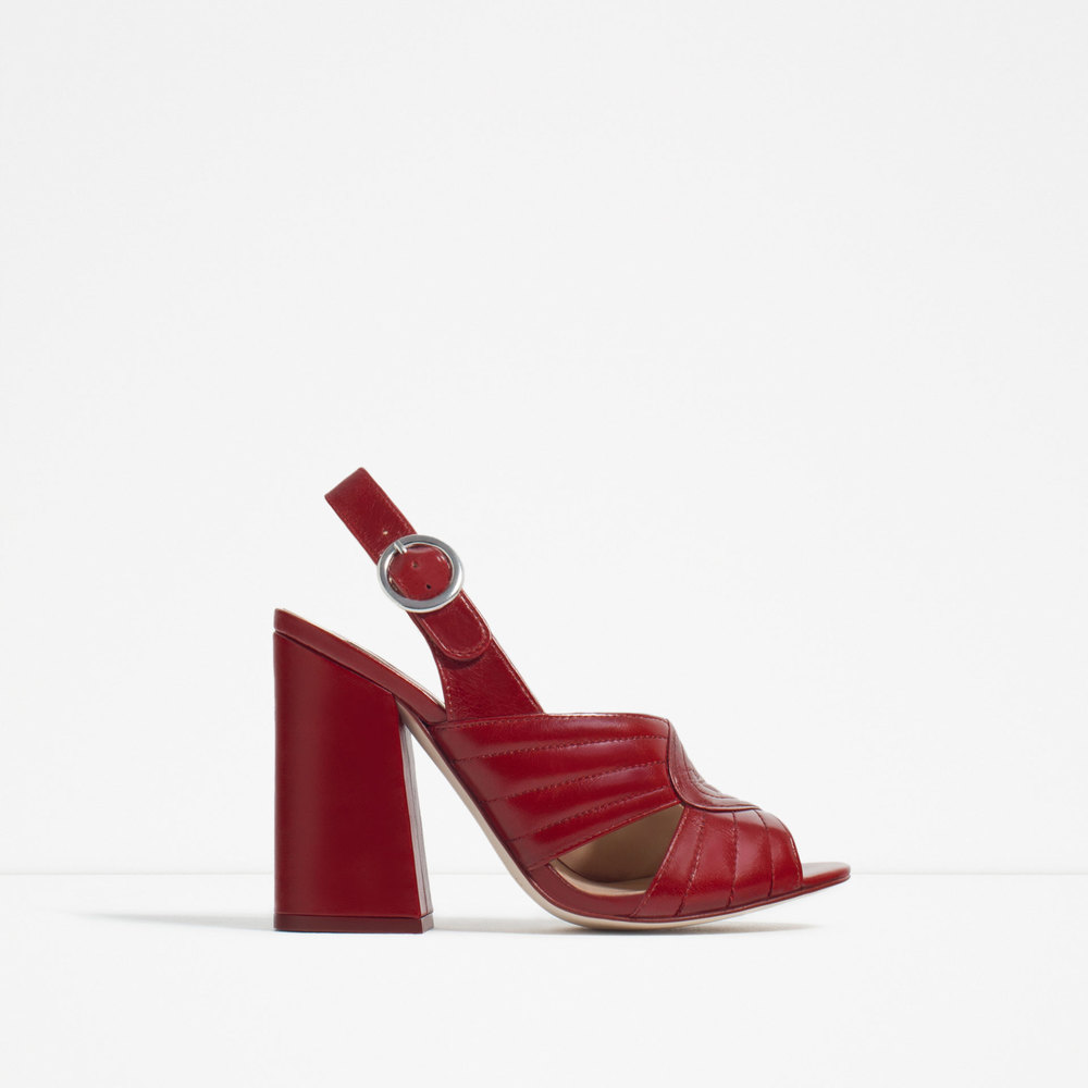 Leather High Heel Sandal. Zara. $119.