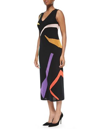 Missoni Abstract Intarsia Knit Dress. Neiman Marcus Last Call. Was: $1,985 Now: $739.