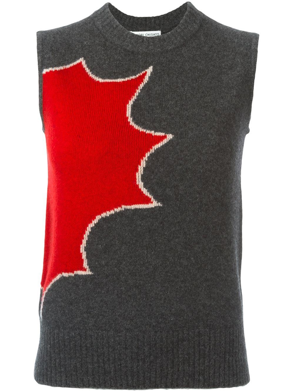 Tsumori Chisato Intarsia Knit Sweater Vest. Farfetch. Was: $337 Now: $134.