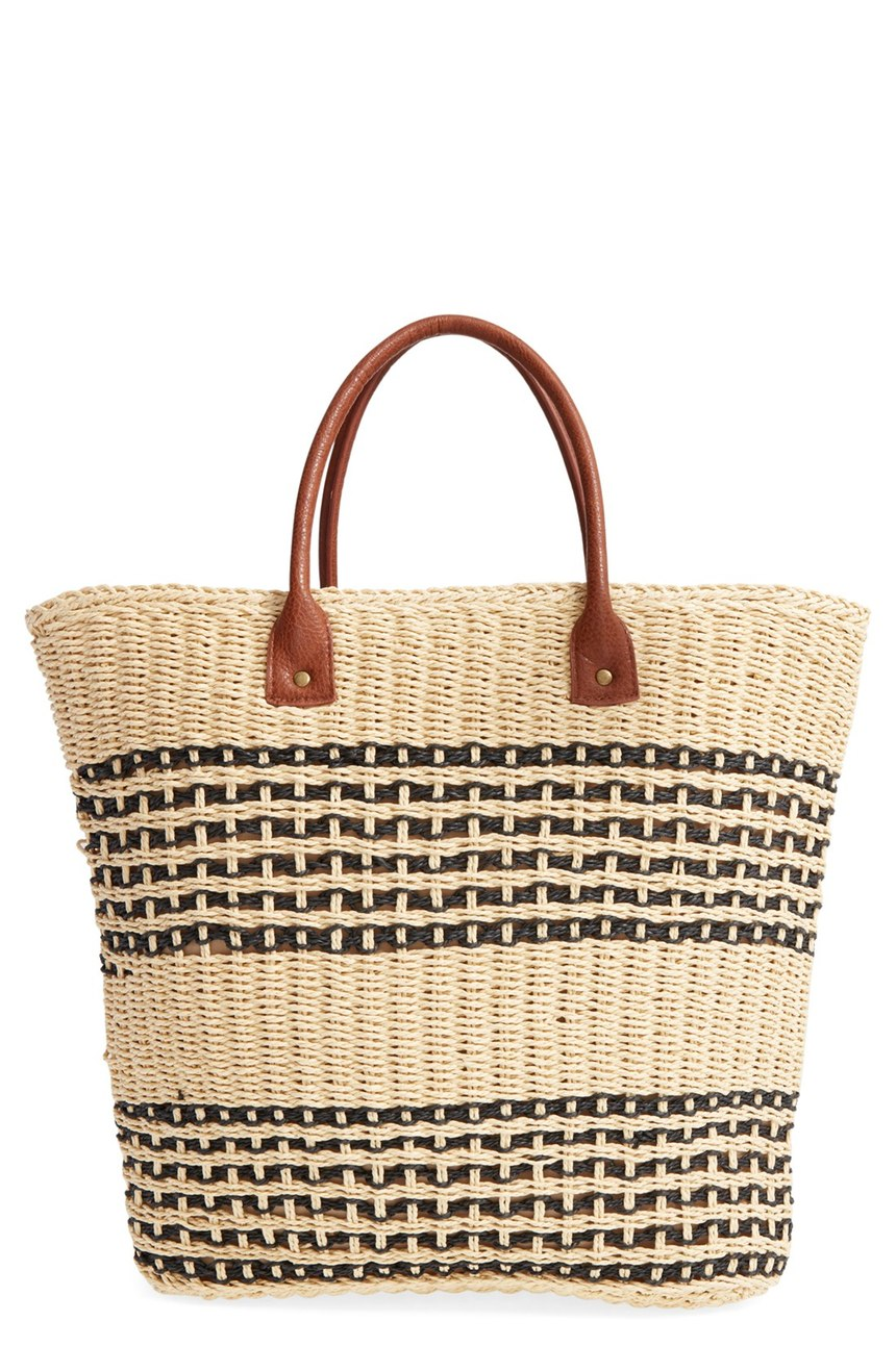 San Diego Hat Stripe Straw Bag. Nordstrom. Was: $68 Now: $58.