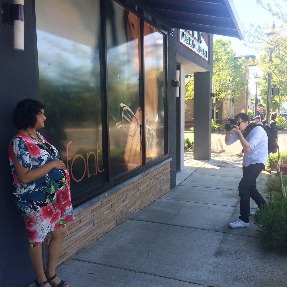 My client, Divya, is rocking this Kinwolfe dress at our recent Edmonds photo shoot.