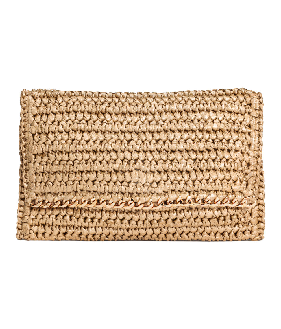 Straw Clutch Bag. Available in two colors/patterns. H&M.