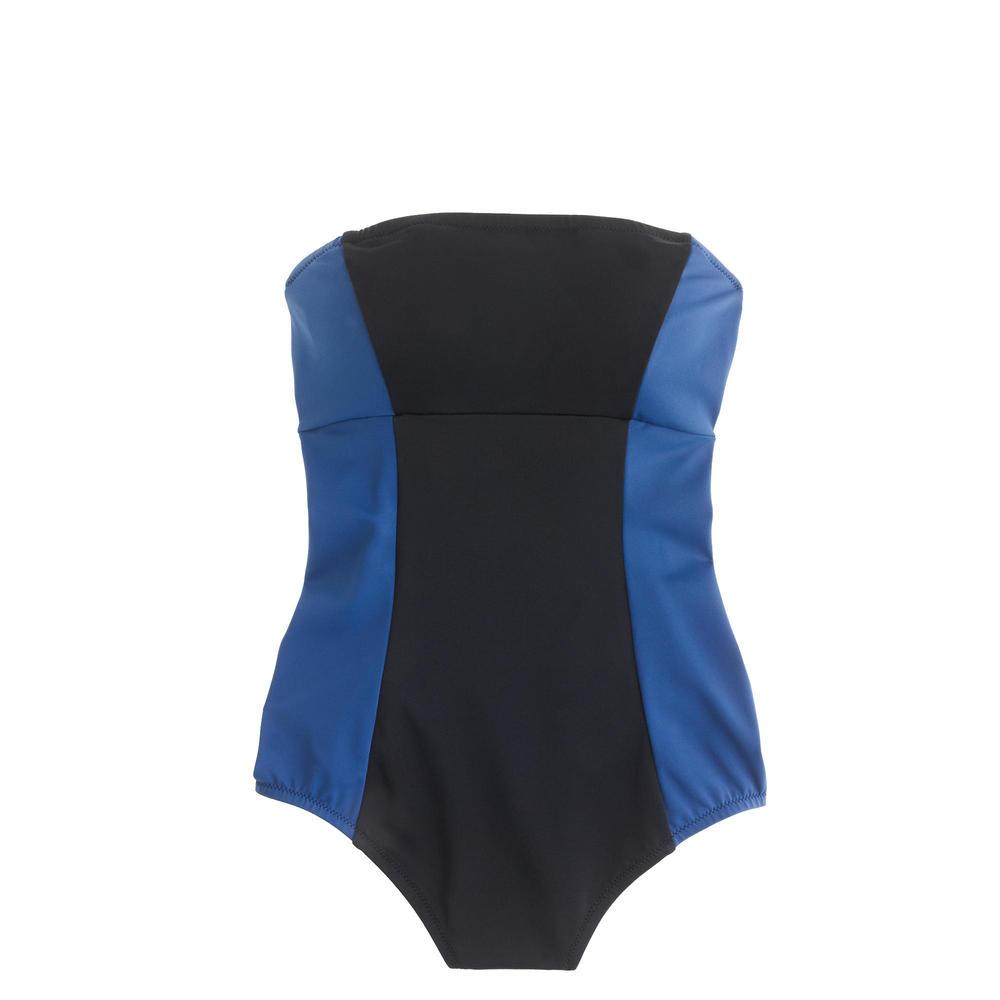 Long Torso Colorblock Bandeau One Piece Swimsuit. J.Crew. $102.