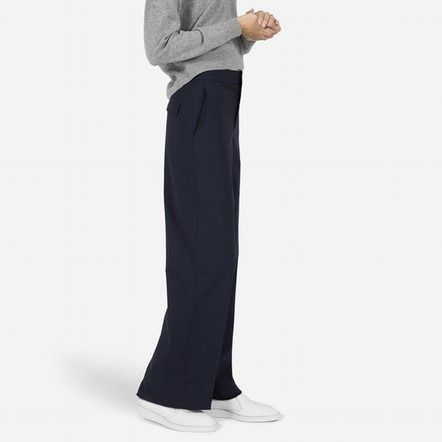 The Slouchy Wide Leg Pant. Available in black, navy. Everlane. $88.