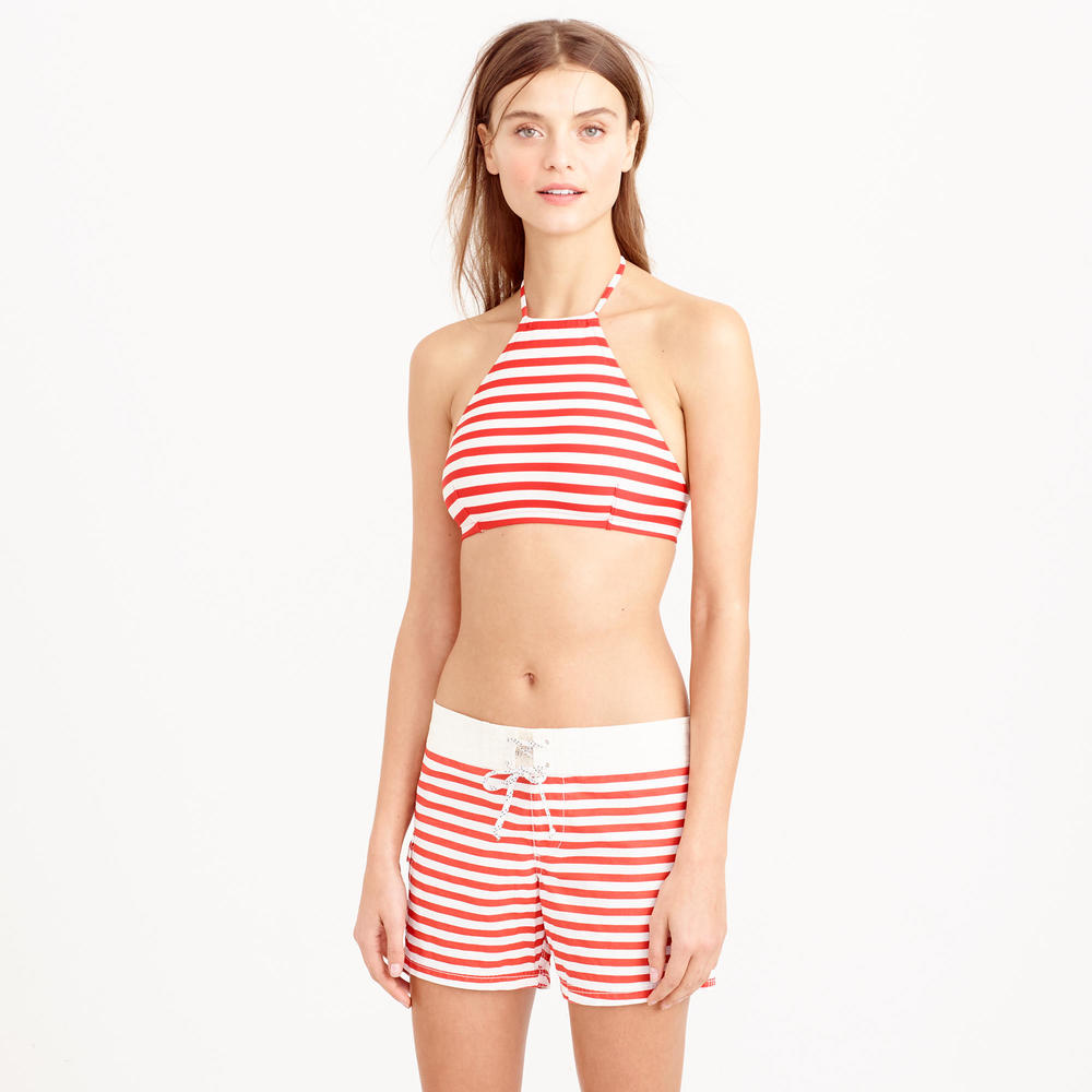 Board Short in classic stripe. Available in red, blue. J.Crew. $72. Additional 30% off with code: GETSHOPPING.