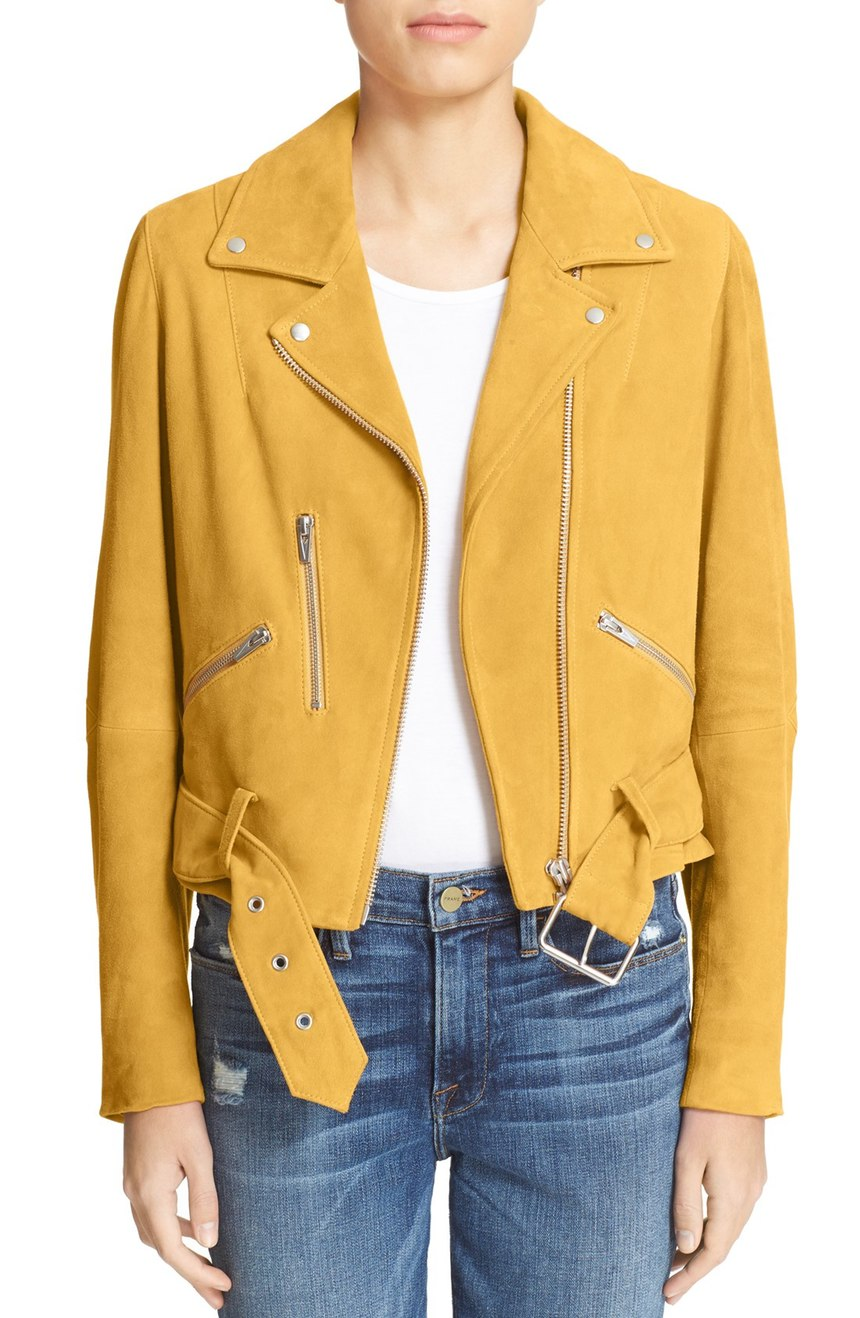 Veda   'Gemini' Suede Moto Jacket (Nordstrom Exclusive). Nordstrom. Now: $599. Will be: $995.