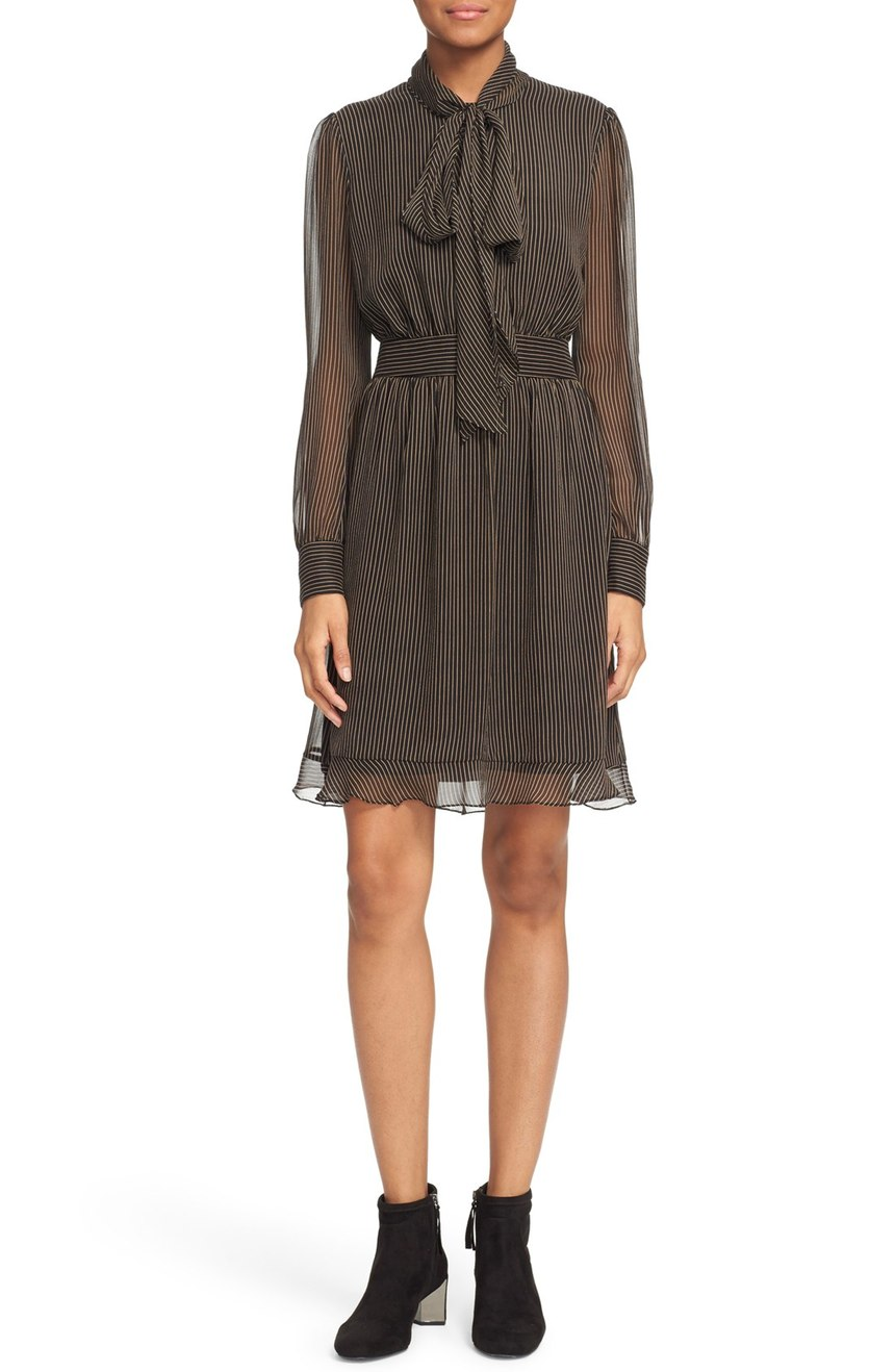 Diane von Furstenberg  'Arabella' Pinstripe Silk Dress. Nordstrom. Now: $238 Will be: $398.