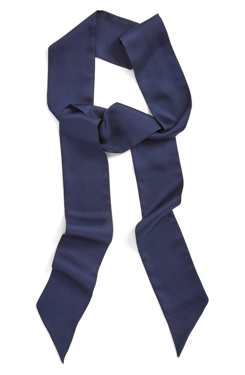 Halogen®  Silk Skinny Scarf. Nordstrom. Was: $38 Now: $24.