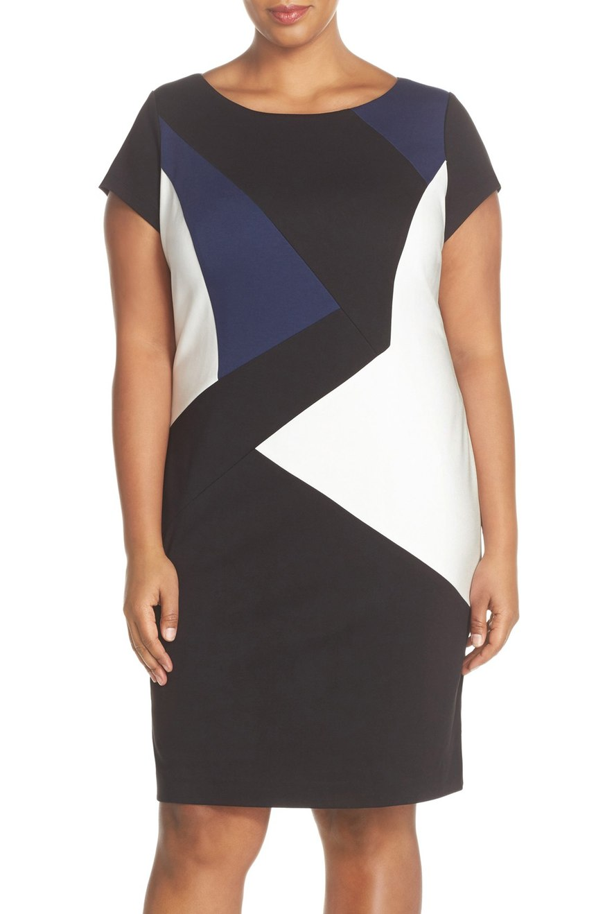 Ellen Tracy  Colorblock Sheath Dress (Plus Size). Nordstrom. Now: $78 Will be: $118.