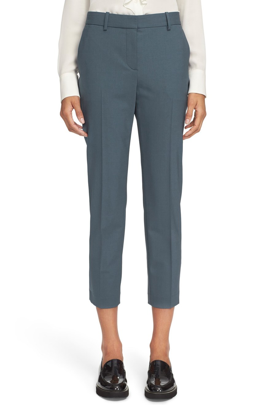 T heory 'Treeca 2 B Token' Crop Suit Pants. Nordstrom. Now: $183. Will be: $275.