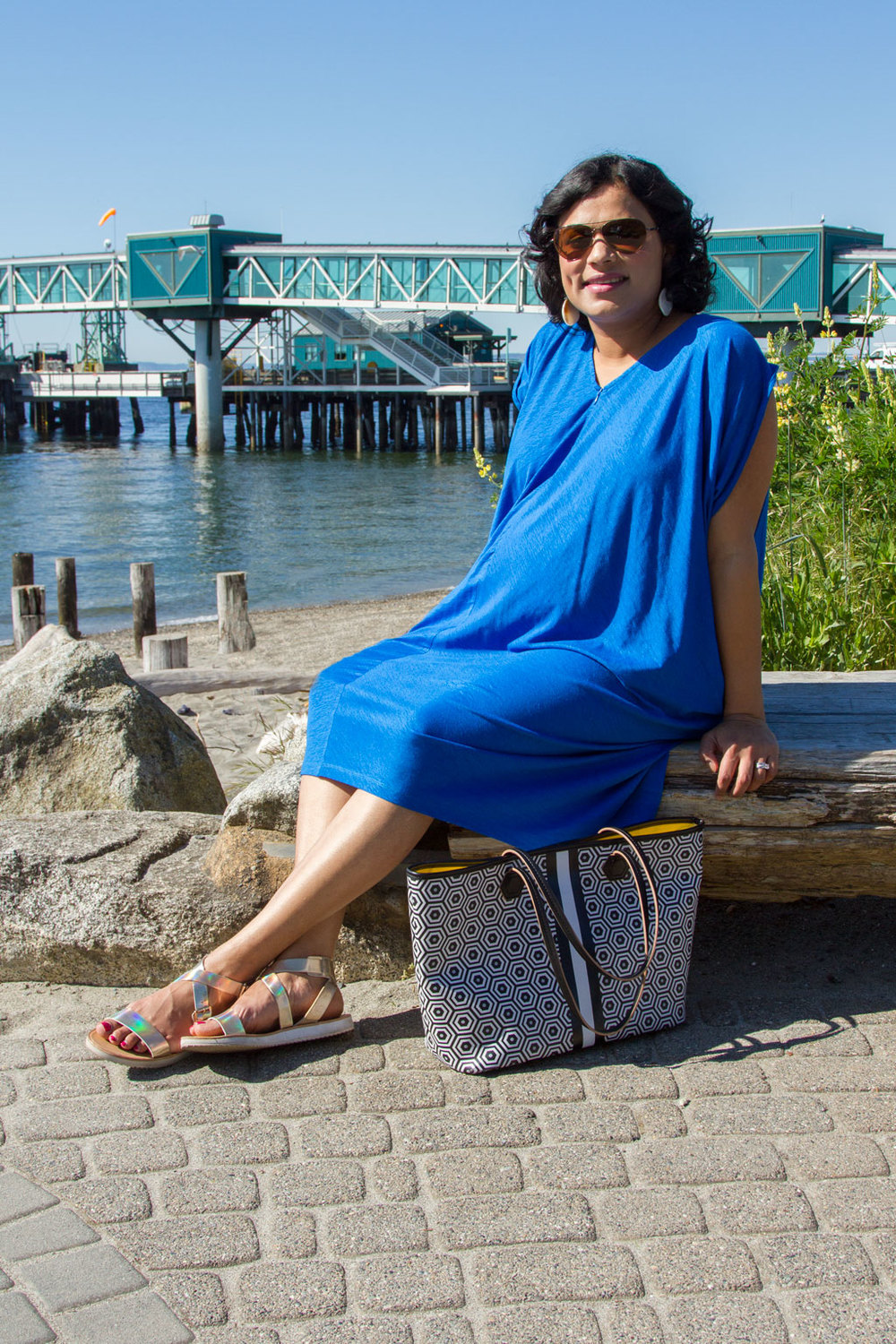 Divya rocking the Kinwolfe Silk Radiant Dress. Kinwolfe. $215.  Additional $50 off with code: THANKS.