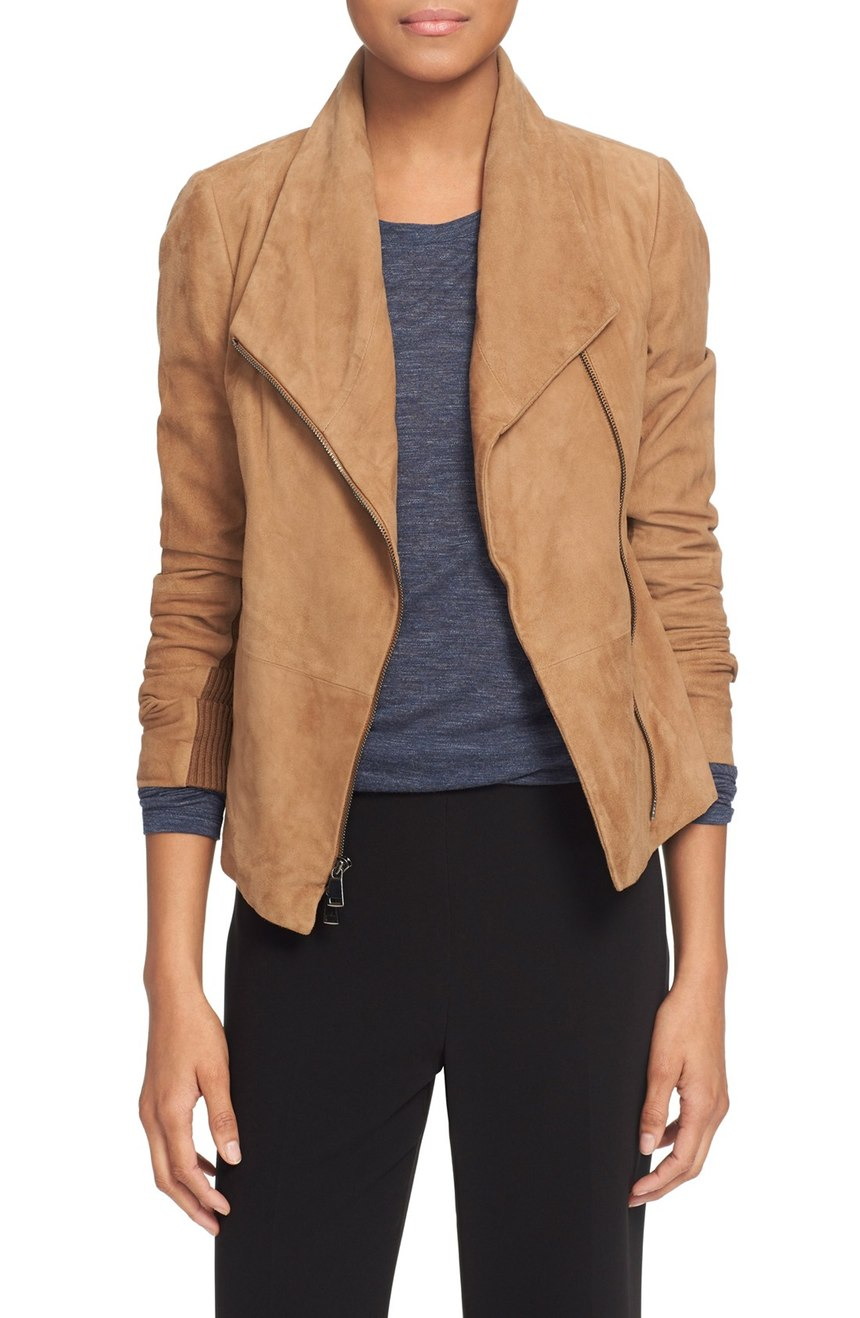 Vince   Suede Scuba Jacket. Nordstrom. Now: $632. Will be: $945.