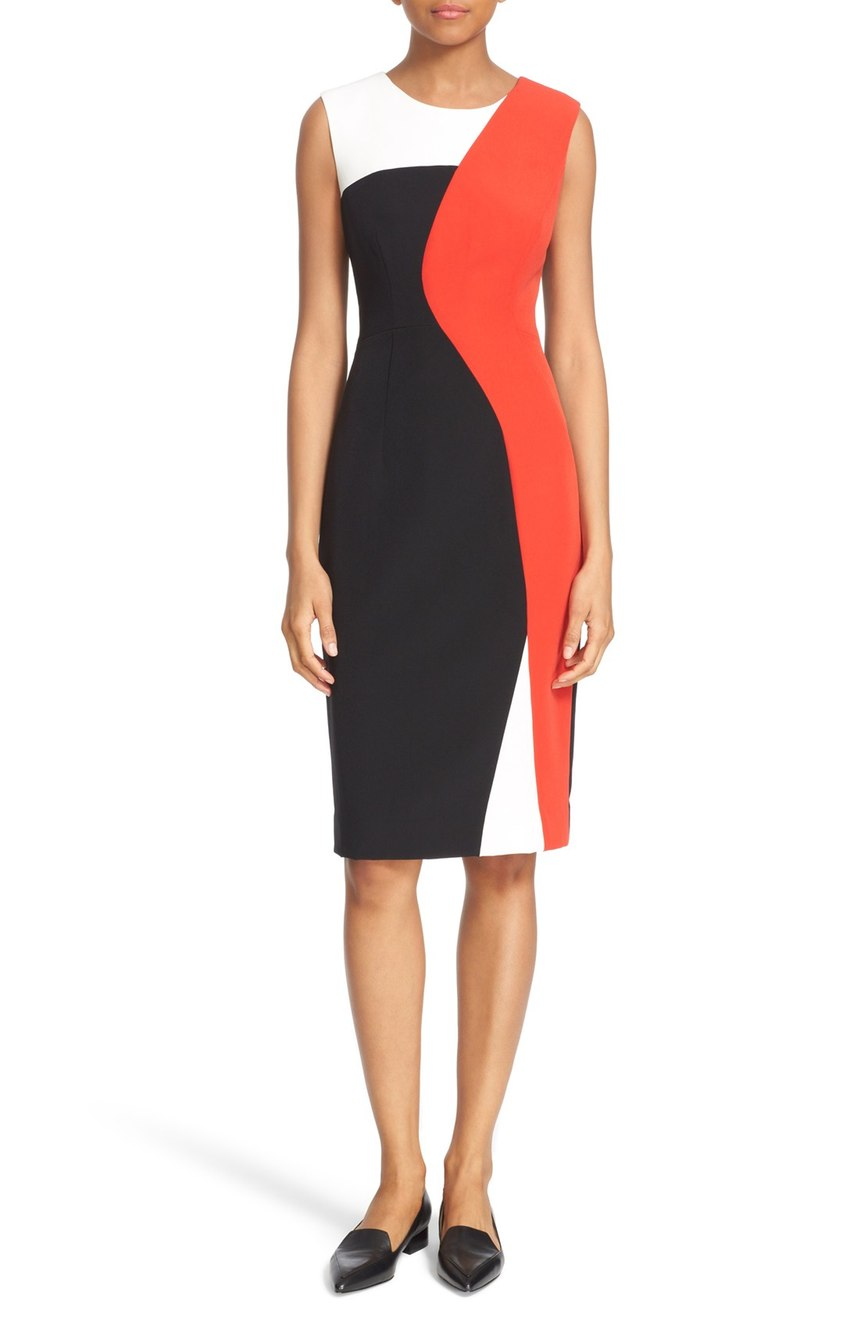 Milly  'Helix' Colorblock Sleeveless Sheath Dress. Nordstrom. Now: $254. Will be: $425.