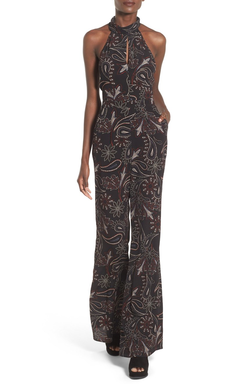 ASTR  Paisley Halter Jumpsuit. Nordstrom. Now: $58. Will be: $98.