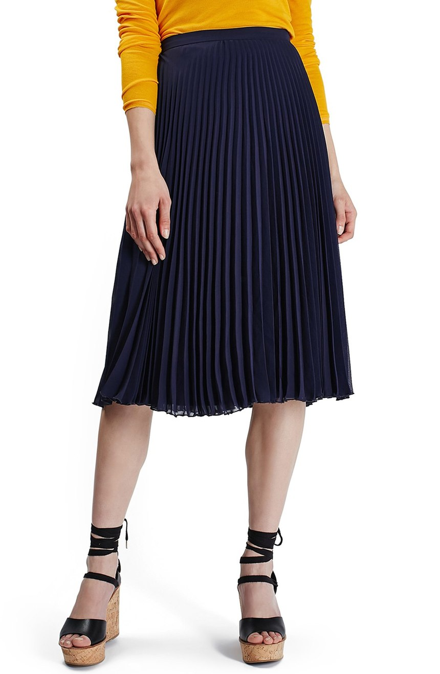 Topshop  Chiffon Pleated Midi Skirt. Nordstrom. Now: $55. Will be: $85.