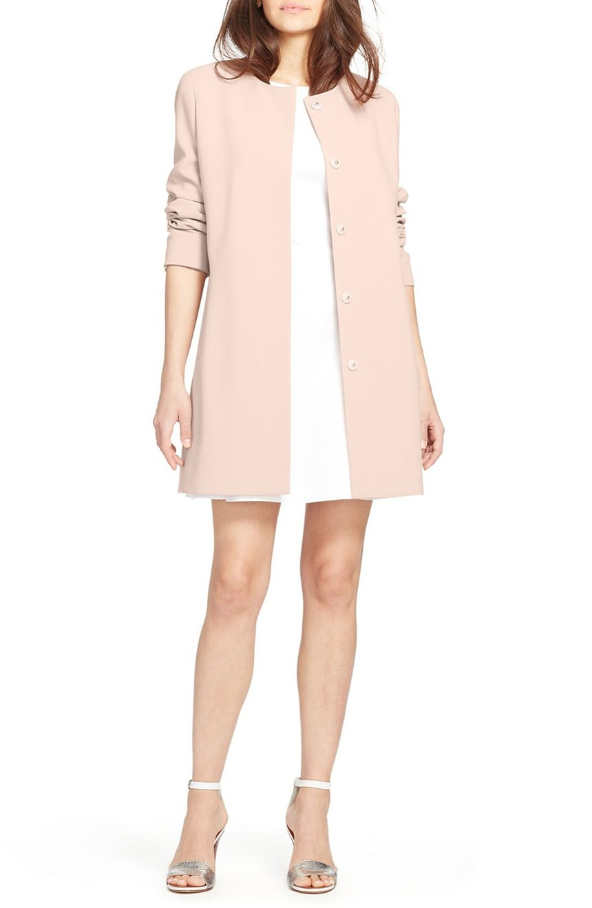 Lauren Ralph Lauren   Collarless Crepe Topper. Nordstrom. Now: $119 Will be: $200.