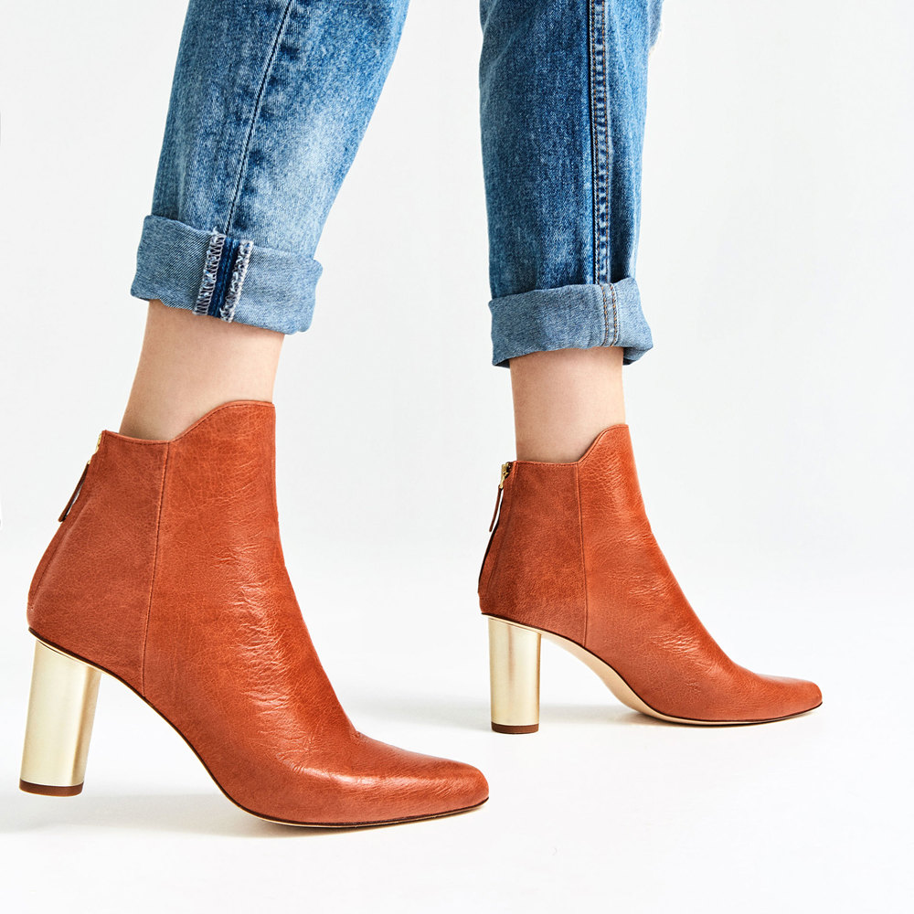 Laminated Leather High Heel Ankle Boot. Zara. $139.