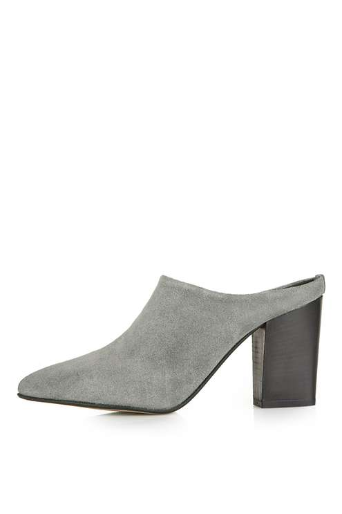 GLOBAL Point Mules. Available in multiple colors, textures listed separately. Topshop. $100.
