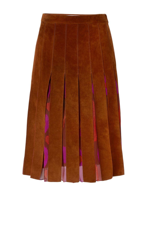 DVF Melita Suede Skirt. DVF (as in Diane von Furstenberg). $798.