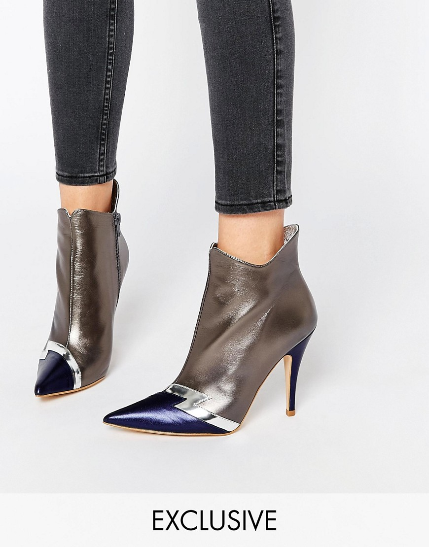 Terry de Havilland Pixie Silver Heeled Ankle Boots. ASOS. $225.